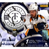 2013/14 Panini Totally Certified Hockey Hobby 12 Box Case