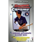 2013 Bowman Chrome Baseball Hobby 12 Box Case