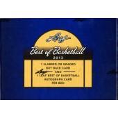2013 Leaf Best of Basketball Hobby Box