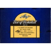 2013 Leaf Best of Basketball Hobby 3 Box Case