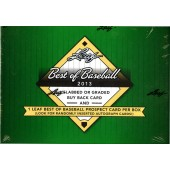 2013 Leaf Best of Baseball Hobby 3 Box Case
