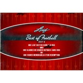 2013 Leaf Best of Football Hobby Box
