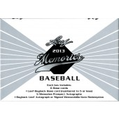 2013 Leaf Memories Baseball Hobby 12 Box Case