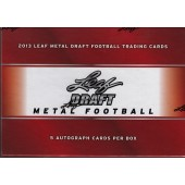 2013 Leaf Metal Draft Football Hobby Box
