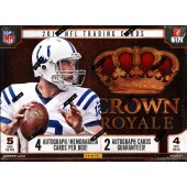 2013 Panini Crown Royale Football Hobby 12 Box Case