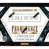 2013 Panini Prominence Football Hobby 15 Box Case