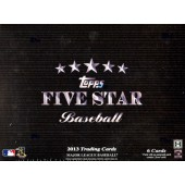 2013 Topps Five Star Baseball Hobby 3 Box Case