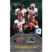 2013 Upper Deck Football Hobby 12 Box Case