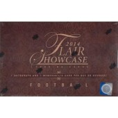 2014 Flair Showcase Football Hobby 12 Box Case