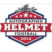 2014 Leaf Autographed Full Sized Helmet Football 3 Box Case