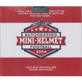 2014 Leaf Autographed Mini Helmet Football 8 Box Case