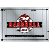 2014 Leaf Best of Baseball Hobby 3 Box Case