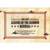 2014 Leaf Legends of the Diamond Baseball 4 Box Case