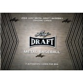 2014 Leaf Metal Draft Baseball Hobby 12 Box Case