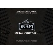 2014 Leaf Metal Draft Football Hobby 15 Box Case