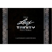 2014 Leaf Trinity Football Hobby 10 Box Case