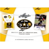 2014 Leaf US Army All American Football 12 Box Case