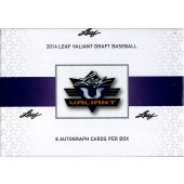 2014 Leaf Valiant Baseball Hobby 12 Box Case