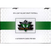 2014 Leaf Valiant Football Hobby 15 Box Case