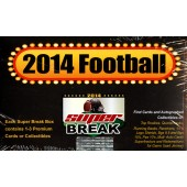 2014 Super Break Football 10 Box Case