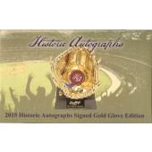 2015 Historic Autographs Gold Glove Edition Baseball Box