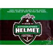 2015 Leaf Autographed Full Sized Helmet Football 4 Box Case