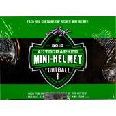 2015 Leaf Autographed Mini Helmet Football 8 Box Case