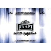 2015 Leaf Metal Draft Baseball Hobby 12 Box Case