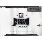 2015 Leaf Metal Draft Hockey Hobby 12 Box Case