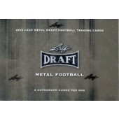 2015 Leaf Metal Draft Football Hobby 15 Box Case
