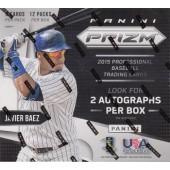 2015 Panini Prizm Baseball Hobby 20 Box Case