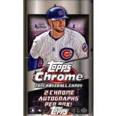 2015 Topps Chrome Baseball Hobby 12 Box Case