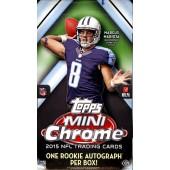 2015 Topps Chrome Mini Football 12 Box Case