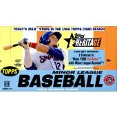 2015 Topps Heritage Minor League Baseball Hobby 12 Box Case