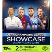 2016/17 Topps UEFA Champions League Showcase Soccer 8 Box Case