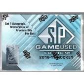 2016/17 Upper Deck SP Game Used Hockey Hobby 10 Box Case