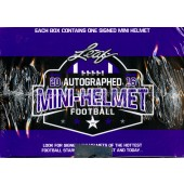2016 Leaf Autographed Mini Helmet Football 8 Box Case