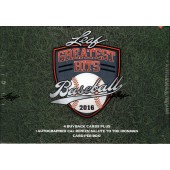 2016 Leaf Greatest Hits Baseball Hobby 2 Box Case