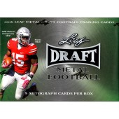 2016 Leaf Metal Draft Football Hobby 15 Box Case