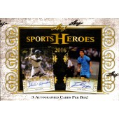 2016 Leaf Sports Heroes Hobby 12 Box Case
