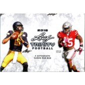 2016 Leaf Trinity Football Hobby 12 Box Case