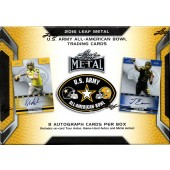 2016 Leaf Metal US Army All-American Bowl Football 12 Box Case