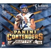 2016 Panini Contenders Draft Picks Football Hobby Box