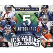 2016 Panini Contenders Football Hobby 12 Box Case