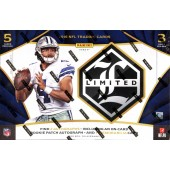 2016 Panini Limited Football Hobby 15 Box Case