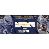 2016 Panini Preferred Football Hobby 10 Box Case