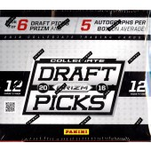 2016 Panini Prizm Collegiate Draft Football Hobby 12 Box Case