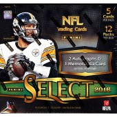 2016 Panini Select Football Hobby 12 Box Case