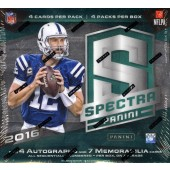 2016 Panini Spectra Football Hobby 8 Box Case