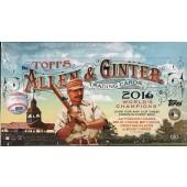 2016 Topps Allen & Ginter Baseball Hobby 12 Box Case